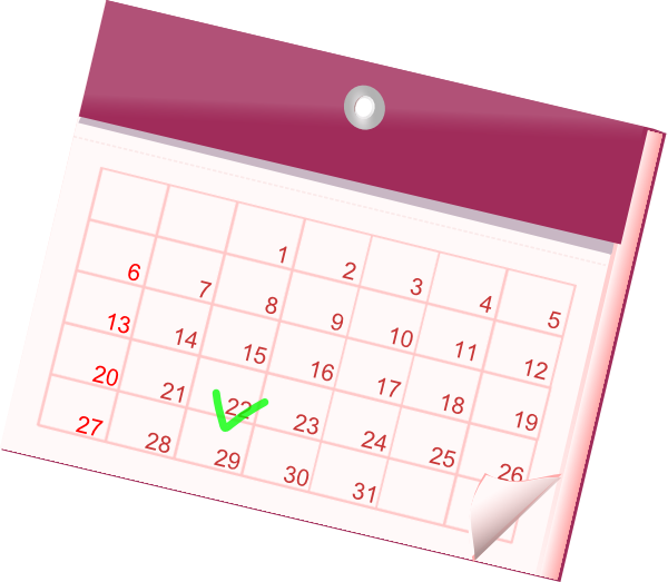 Clipart Calendar Graphic : Calendar icon clip art at clker vector