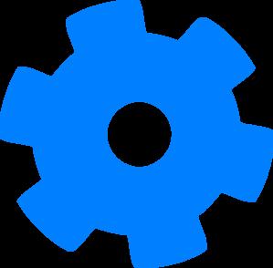 Blue Cog Clip Art at Clker.com - vector clip art online ...