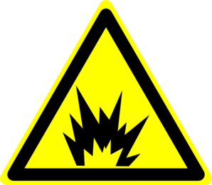 Hazard Warning Sign: Explosion Clip Art