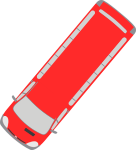 Red Bus - 230 Clip Art