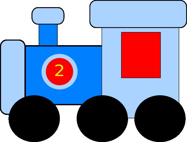 Blue Train Clip Art at Clker.com - vector clip art online ...