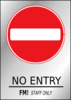 No Entry - Fm! Staff Only Clip Art