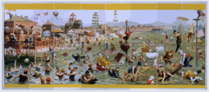 [coney Island Beach And Boardwalk Scenes] Clip Art