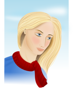 Woman Wearing Scarf Clip Art