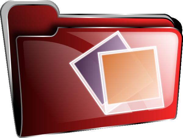 Photo Folder Icon Clip Art at Clker.com - vector clip art ...