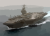 Uss Theodore Roosevelt (cvn 71) Currently Deployed, Powers Through The Mediterranean Sea Clip Art