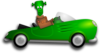 Green Cartoon Car Clip Art