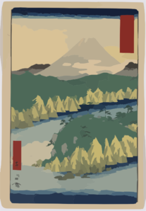 The Lake In Hakone Clip Art