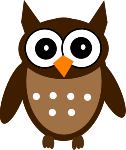 Brown Cute Owl Clip Art