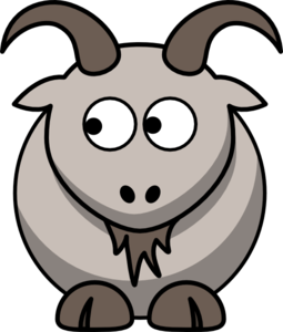 Goat Looking Left Clip Art