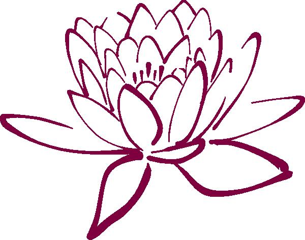 fuschia lotus clip art at vector clip art online royalty free public domain. Black Bedroom Furniture Sets. Home Design Ideas