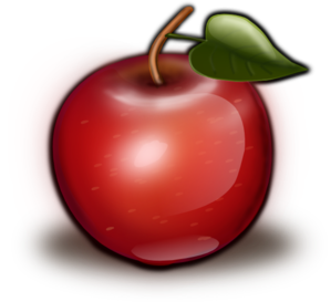 Glossy Red Apple Clip Art