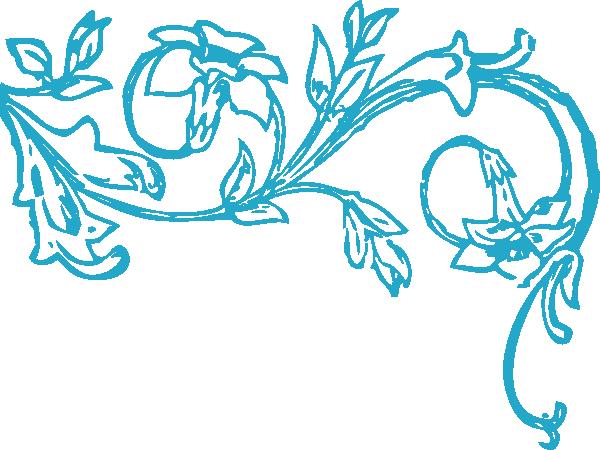 Blue Floral Vine Clip Art At Clkercom Vector