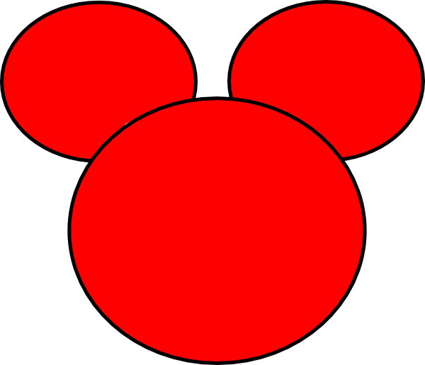 Mickey Ears Clip Art at Clker.com - vector clip art online, royalty ...