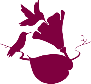 2 Hummingbirds In Corner Clip Art