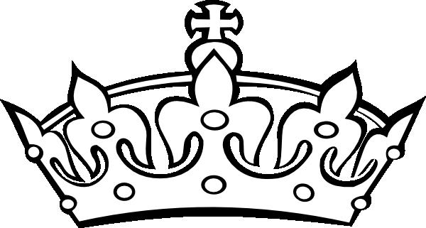Blacknwhite Crown Clip Art at Clker.com - vector clip art ...