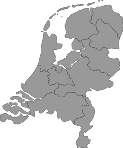 Netherlands Map Clip Art
