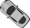 Gray Car - Top View - 140 Clip Art