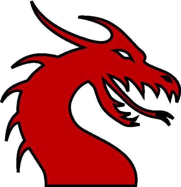 dragon head silhouette red clip art at clker com vector clip art rh clker com Fire-Breathing Dragon Clip Art Fire-Breathing Dragon Clip Art