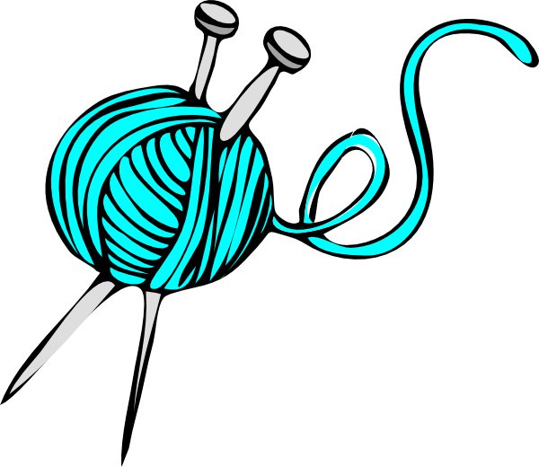 Knitting Crochet Clipart : Turquoise yarn clip art at clker vector