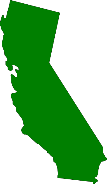 California small. Green state clip art