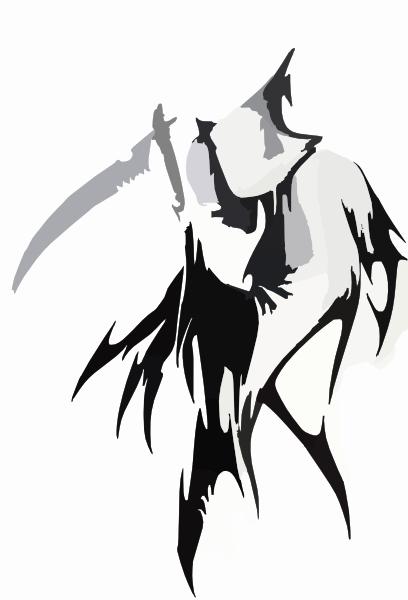 tribal grim reaper tattoo wicked cool clip art at clker com vector rh clker com Cool Grim Reaper Tattoos Grim Reaper Tattoo Drawings