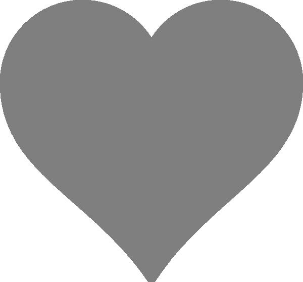 Solid Dark Grey Heart Clip Art at Clker.com - vector clip art online ...