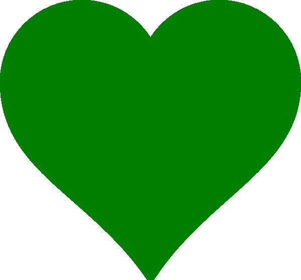 Green Heart Solid Clip Art at Clker.com - vector clip art ...