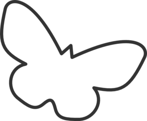 Butterfly Silhouette Cropped Clip Art