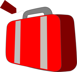 Red Suitcase Clip Art