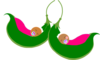 Two Peas In A Pod Girls Clip Art