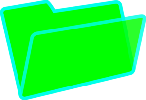 Green/blue Folder Clip Art