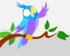 Cute Cartoon Parrot Full Clip Art