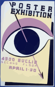 Poster Exhibition, 4300 Euclid, Second Floor Clip Art at Clker com
