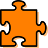 Orange Jigsaw Piece Clip Art