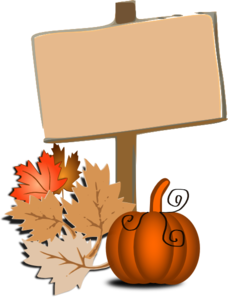 Wood Sign Pumpkin Halloween Clip Art