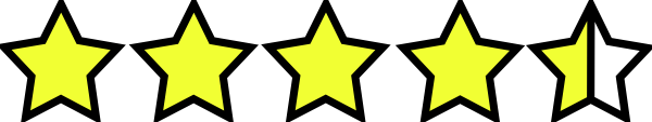 And A Half Stars With Thick Outline Clip Art at Clker.com - vector ...