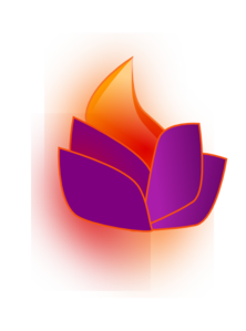 Flaming Lotus Clip Art