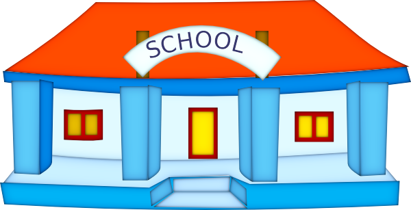 cartoon school building clipart rh worldartsme com school clipart children school clipart images