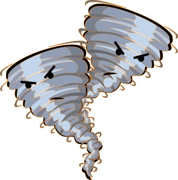 Twin Orange Tornado Clip Art at - 153.3KB