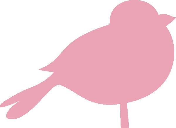 Birds pink. Chubby bird clip art