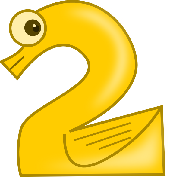 Animal number two clip art at clkercom vector clip art online royalty free public domain for Free clipart numbers