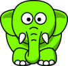 Lime Green Elephant Clip Art