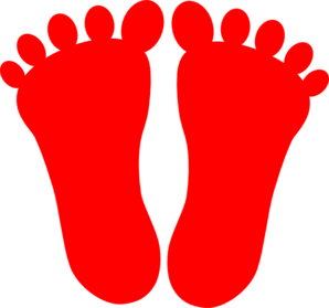 Red Footprints Clip Art