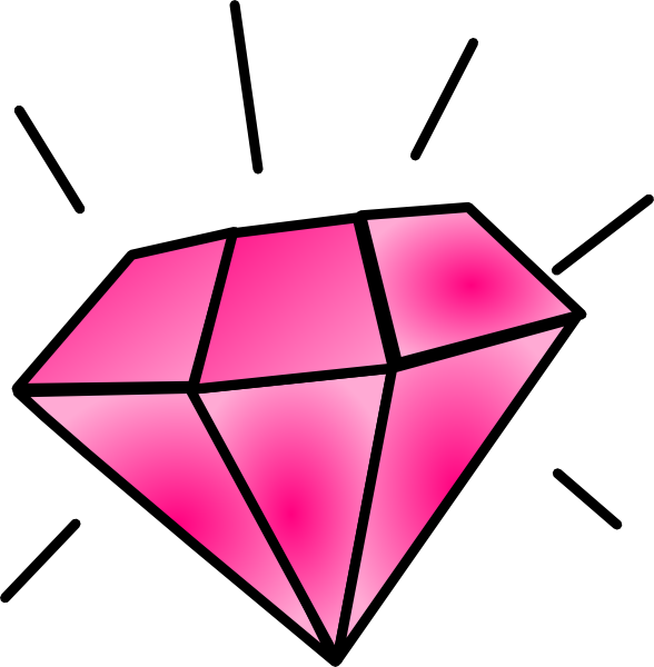 pink diamond clip art at clker com vector clip art online royalty rh clker com