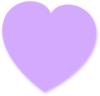 Light Purple Heart 2 Clip Art