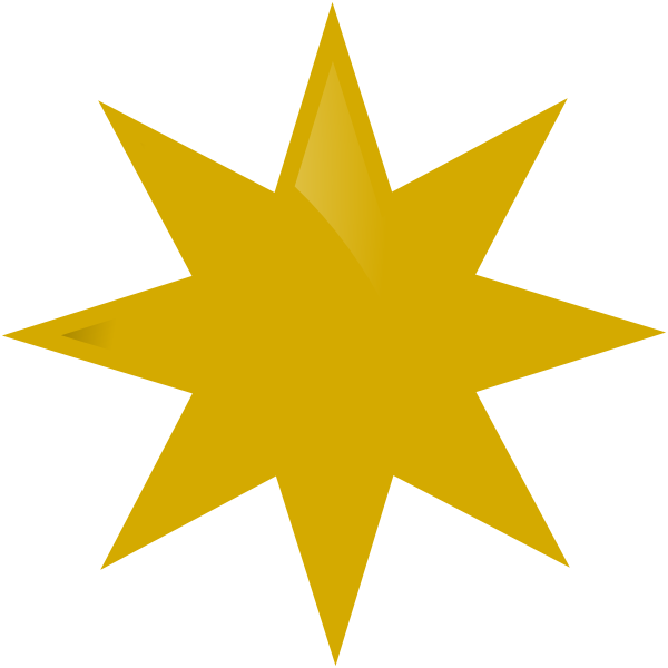 Gold Star Clip Art at Clker.com - vector clip art online, royalty free ...