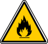 Warning - Flammable Clip Art