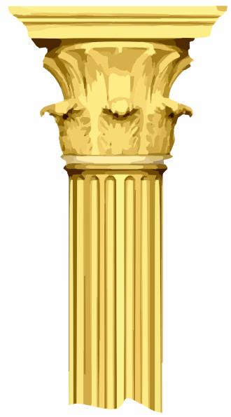 Pillar Clip Art : Broken column clip art at clker vector