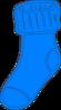 Blue Sock Clip Art